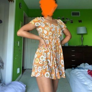 forever 21 sunflower mini sundress